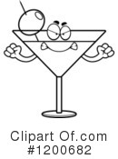 Royalty-Free (RF) Martini Clipart Illustration #1200682
