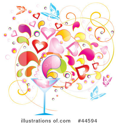 Royalty-Free (RF) Martini Clipart Illustration by MilsiArt - Stock Sample #44594