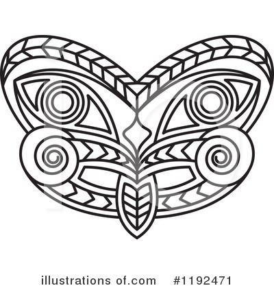 Tribal Mask Clipart #1192471 by Lal Perera