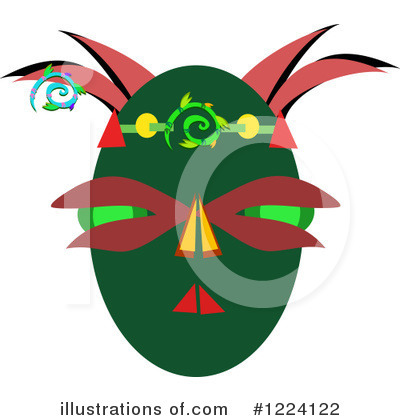 Tribal Mask Clipart #1224122 by bpearth