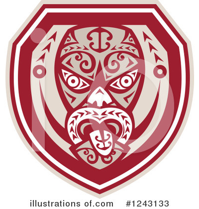 Tribal Mask Clipart #1243133 by patrimonio