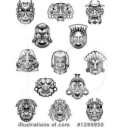 Tribal Mask Clipart #1289850 by Vector Tradition SM