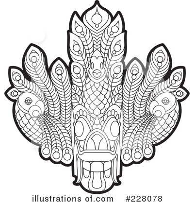 Tribal Mask Clipart #228078 by Lal Perera