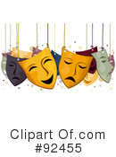 Royalty-Free (RF) Masks Clipart Illustration #92455