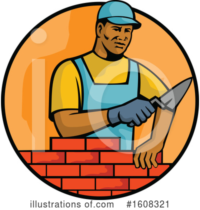 Construction Worker Clipart #1608321 by patrimonio