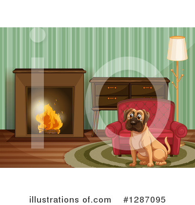 Fireplace Clipart #1287095 by Graphics RF