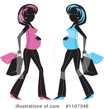 Pregnant Clipart #1107346 by Amanda Kate