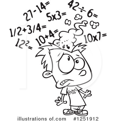 Math Clipart #1251912 - Illustration by toonaday