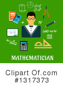 Royalty-Free (RF) Math Clipart Illustration #1317373
