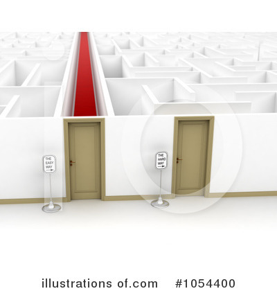 Maze Clipart #1054400 by stockillustrations