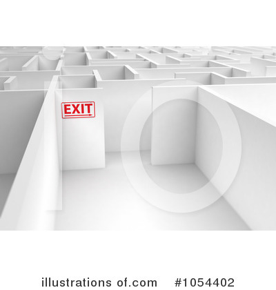 Maze Clipart #1054402 by stockillustrations