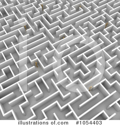 Maze Clipart #1054403 by stockillustrations