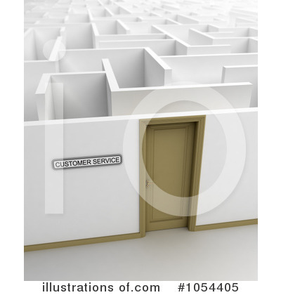 Maze Clipart #1054405 by stockillustrations