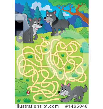 Royalty-Free (RF) Maze Clipart Illustration by visekart - Stock Sample #1465048