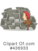 Royalty-Free (RF) Maze Clipart Illustration #436933