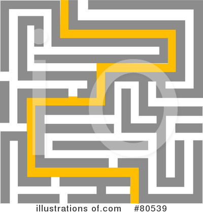 Royalty-Free (RF) Maze Clipart Illustration by tdoes - Stock Sample #80539