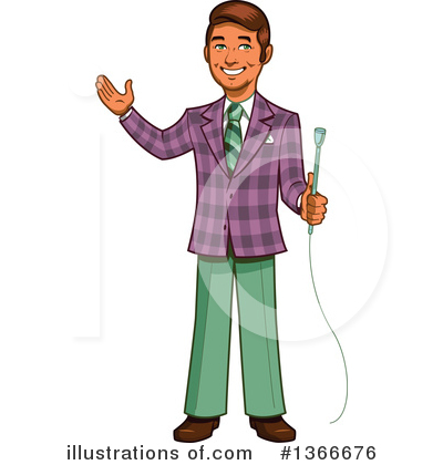 Reporter Clipart #1366676 by Clip Art Mascots