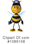 Royalty-Free (RF) Mechanic Bee Clipart Illustration #1089108