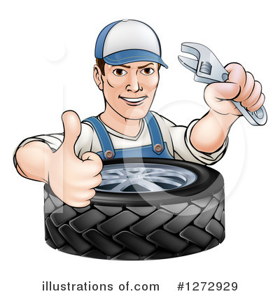 Tire Clipart #1272929 by AtStockIllustration