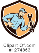 Royalty-Free (RF) Mechanic Clipart Illustration #1274863
