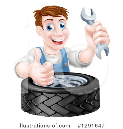 Tire Clipart #1291647 by AtStockIllustration