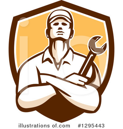 Royalty-Free (RF) Mechanic Clipart Illustration by patrimonio - Stock Sample #1295443