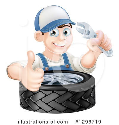 Tire Clipart #1296719 by AtStockIllustration