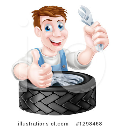 Tire Clipart #1298468 by AtStockIllustration