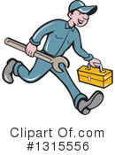Royalty-Free (RF) Mechanic Clipart Illustration #1315556