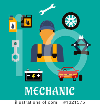 Mechanic Clipart #1321575 by Vector Tradition SM