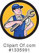 Royalty-Free (RF) Mechanic Clipart Illustration #1335991