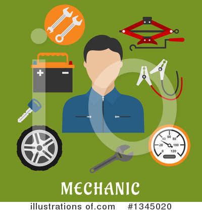Mechanic Clipart #1345020 by Vector Tradition SM