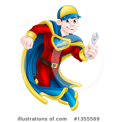 Super Hero Clipart #1355569 by AtStockIllustration