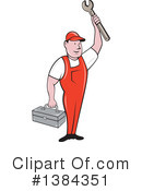 Royalty-Free (RF) Mechanic Clipart Illustration #1384351