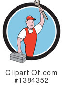 Royalty-Free (RF) Mechanic Clipart Illustration #1384352
