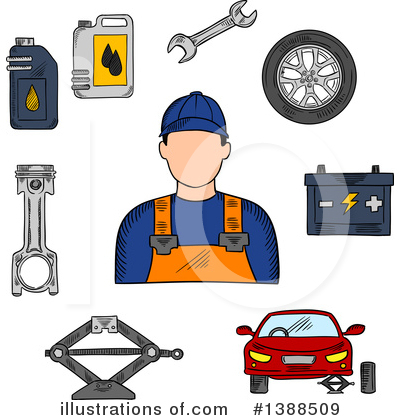 Mechanic Clipart #1388509 by Vector Tradition SM