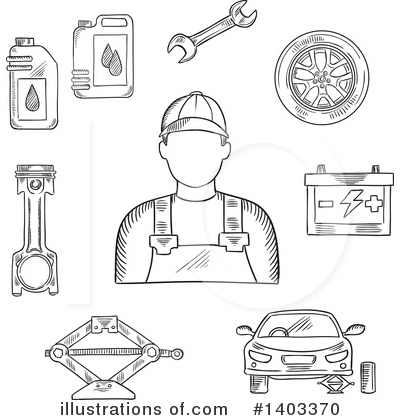 Mechanic Clipart #1403370 by Vector Tradition SM