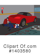 Royalty-Free (RF) Mechanic Clipart Illustration #1403580
