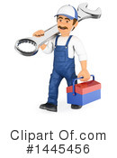 Royalty-Free (RF) Mechanic Clipart Illustration #1445456