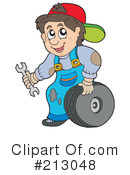Royalty-Free (RF) mechanic Clipart Illustration #213048