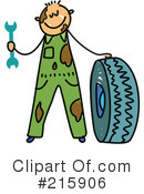 Royalty-Free (RF) mechanic Clipart Illustration #215906