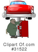 Royalty-Free (RF) Mechanic Clipart Illustration #31522