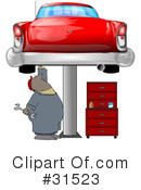 Royalty-Free (RF) Mechanic Clipart Illustration #31523
