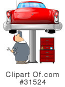 Royalty-Free (RF) Mechanic Clipart Illustration #31524