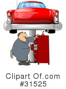 Royalty-Free (RF) Mechanic Clipart Illustration #31525