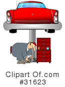 Royalty-Free (RF) Mechanic Clipart Illustration #31623