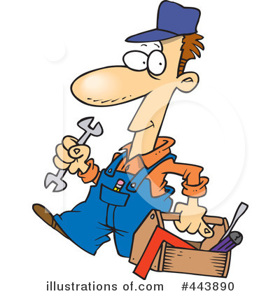 Mechanic Clipart #443890 by toonaday