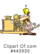 Royalty-Free (RF) Mechanic Clipart Illustration #443930