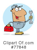 Royalty-Free (RF) Mechanic Clipart Illustration #77848