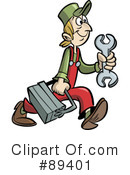 Royalty-Free (RF) mechanic Clipart Illustration #89401